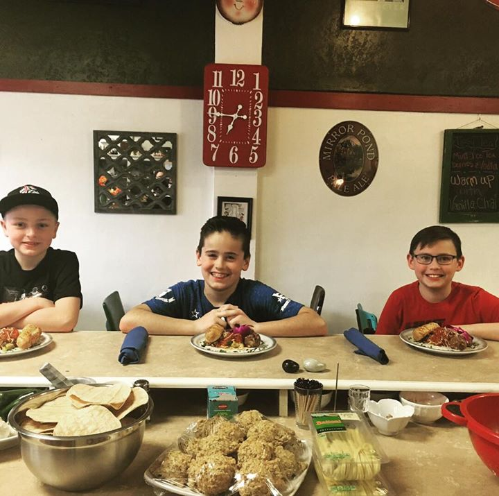 Kids Cooking Class! These kids did great! I love seeing the interest and engagement that they have. And now they get to enjoy the fruits of their labor.  Marinara, Meatballs and Breadsticks.   If your child is interested in a class, gather some friends (up to 4 total) and give me a call and I'll give you more details. ❤️